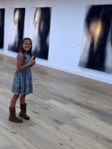 "My daughter, Bethany at the opening night of ""Reflecting Self"" - finally healed and happy after her struggle with cancer."